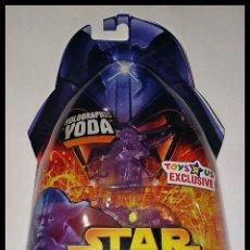 Figuras y Muñecos Star Wars: STAR WARS # HOLOGRAPHIC YODA # REVENGE OF THE SITH - NUEVO EN SU BLISTER ORIGINAL DE HASBRO... Lote 181606637