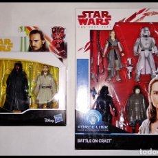 Figuras y Muñecos Star Wars: STAR WARS PACK # SET BATTLE ON CRAIT & DARTH MAUL - QUI-GON JINN # FORCE LINK, NUEVO DE HASBRO... Lote 182027663