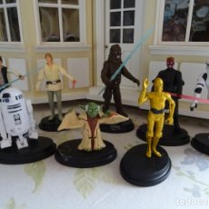Figure e Bambolotti Star Wars: STAR WARS - LA GUERRA DE LAS GALAXIAS - 8 PERSONAJES CON ESPADAS LÁSER!!!!!!!!. Lote 182597770