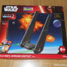 Figuras y Muñecos Star Wars: MAQUETA KYLO REN'S COMMAND SHUTTLE - STAR WARS - REVELL - LEVEL 2 - NUEVO. Lote 182856751