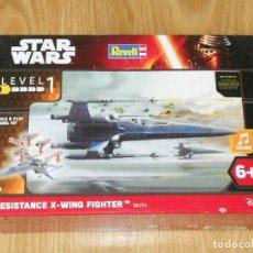 Figuras y Muñecos Star Wars: MAQUETA RESISTANCE X-WING FIGHTER - STAR WARS - REVELL - LEVEL 1 - NUEVO. Lote 182856847