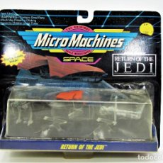 Figuras y Muñecos Star Wars: STAR WARS MICROMACHINES 65860 AT-ST, JABBA´S SAIL BARGE, B-WING 19006018. Lote 183016360