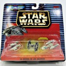 Figuras y Muñecos Star Wars: STAR WARS MICROMACHINES 65860 A-WING, TIE FIGHTER, Y-WING (BATTLE DAMAGED) 19006022. Lote 183016942