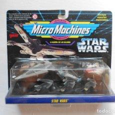 Figuras y Muñecos Star Wars: BLISTER STAR WARS MICROMACHINES CON 3 NAVES GUERRA GALAXIAS - ESPAÑOL - FAMOSA - AÑO 1995 - NUEVO. Lote 183090763