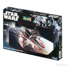 Figuras y Muñecos Star Wars: STAR WARS OBI WAN'S JEDI STARFIGHTER, KIT MODEL, ESCALA 1:58. INCLUYE FIGURA OBI WANG. A ESTRENAR.. Lote 183633643