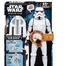 Figuras y Muñecos Star Wars: ENORME FIGURA INTERACTIVA STORMTROOPER IMPERIAL . 30 CTM. STAR WARS (HASBRO B70981020). A ESTRENAR.. Lote 183688813