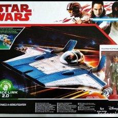 Figuras y Muñecos Star Wars: STAR WARS # RESISTANCE A-WING FIGHTER, CON PILOT TALLIE # FORCE LINK. NUEVO EN SU CAJA, HASBRO.. Lote 184259773