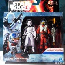 Figuras y Muñecos Star Wars: STAR WARS - OFICIAL SNOWTROOPER PRIMERA ORDEN & PILOTO X-WING SNAP WEXLEY (2015). Lote 184774308