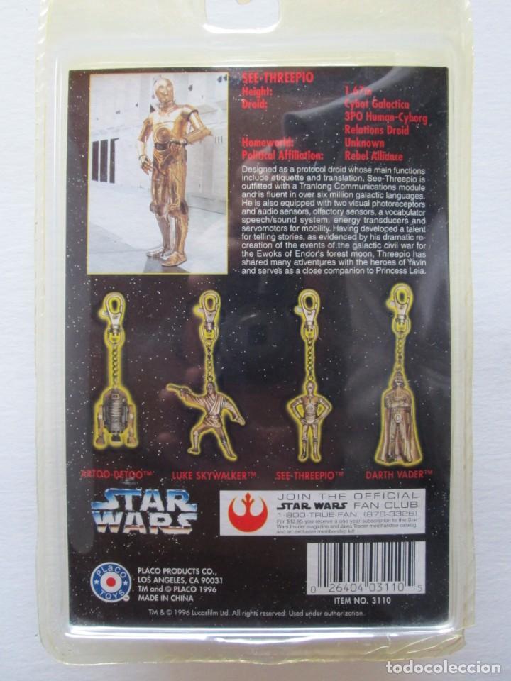 Figuras y Muñecos Star Wars: LLAVERO METÁLICO C3PO . PLACO TOYS 1996 . STAR WARS . ENVIO INCLUIDO - Foto 2 - 185698003
