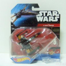 Figuras y Muñecos Star Wars: POE´S X-WING FIGHTER - HOT WHEELS STAR WARS MATTEL DISNEY - NAVE CAZA REBELDE THE FORCE AWAKENS. Lote 186094383