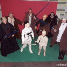 Figuras y Muñecos Star Wars: LOTE STAR WARS*** 8 PERSONAJES CON ROPA AUTENTICA LUCAS FILM LTD. HASBRO 1998. Lote 186349153