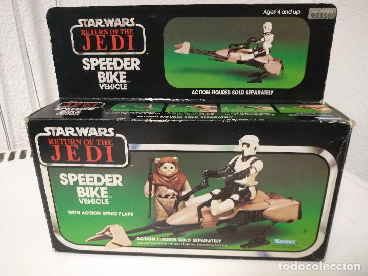 STAR WARS SPEEDER BIKE MOTO JET CAJA ORIGINAL E INSTRUCCIONES (Juguetes - Figuras de Acción - Star Wars)