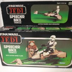 Figuras y Muñecos Star Wars: STAR WARS SPEEDER BIKE MOTO JET CAJA ORIGINAL E INSTRUCCIONES. Lote 186717665