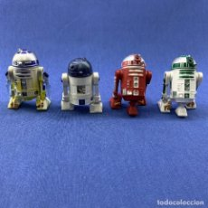 Figurines et Jouets Star Wars: STAR WARS - LOTE 4 DROIDS BATTLE - R2D2 - R2R5 - R2N3 - LEGACY COLLECTION - ASTRONAVE NABOO. Lote 187576375