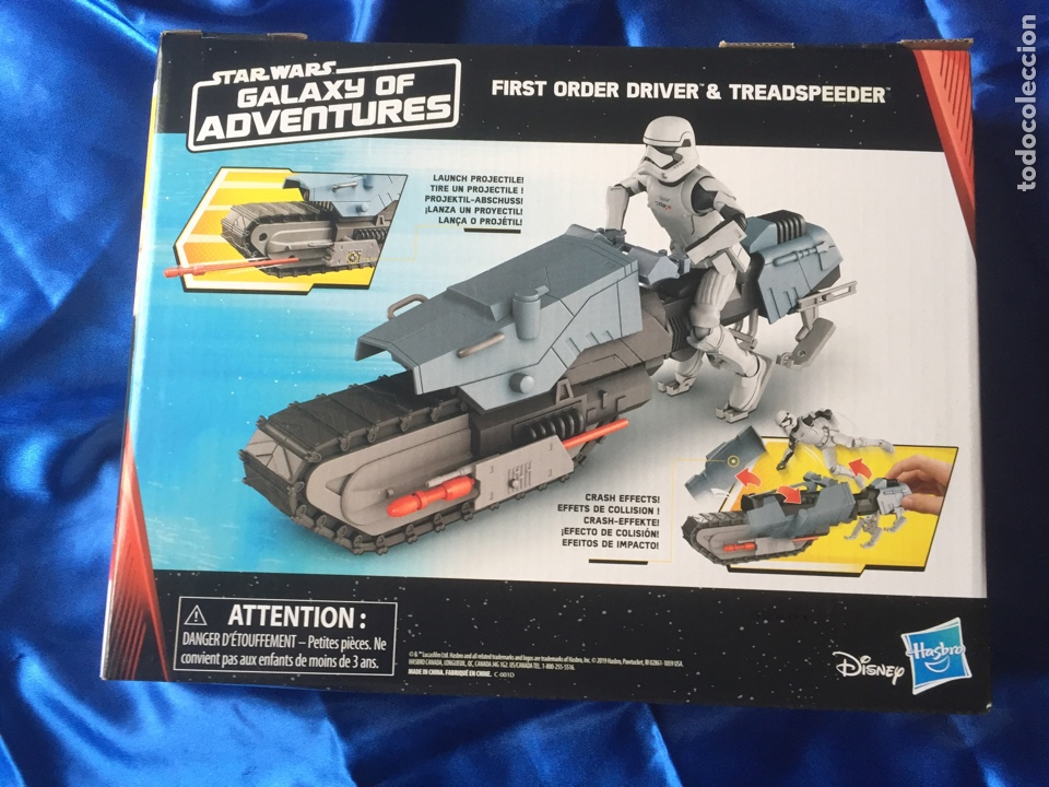 Figuras y Muñecos Star Wars: Star Wars The Rise of Skywalker Treadspeeder Galaxy of adventures - Foto 3 - 187764336