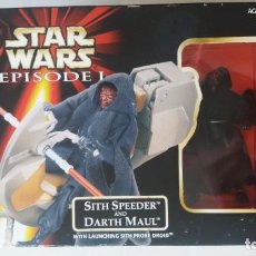 Figuras y Muñecos Star Wars: FIGURA STAR WARS SITH SPEEDER AND DARTH MAUL EPISODE 1 NUEVA EN BLISTER. Lote 189277250
