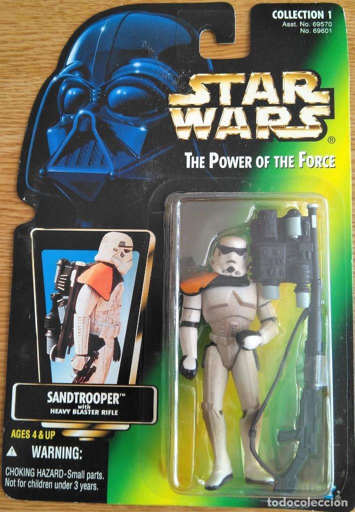 FIGURA STAR WARS SANDTROOPER POTF GREEN NUEVA EN BLISTER (Juguetes - Figuras de Acción - Star Wars)