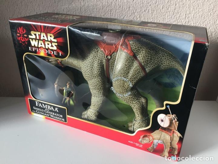 FAAMBA WITH SHIELD GENERATOR AND GUNGAN WARRIOR - STAR WARS - EPISODIO I - 1999 (Juguetes - Figuras de Acción - Star Wars)