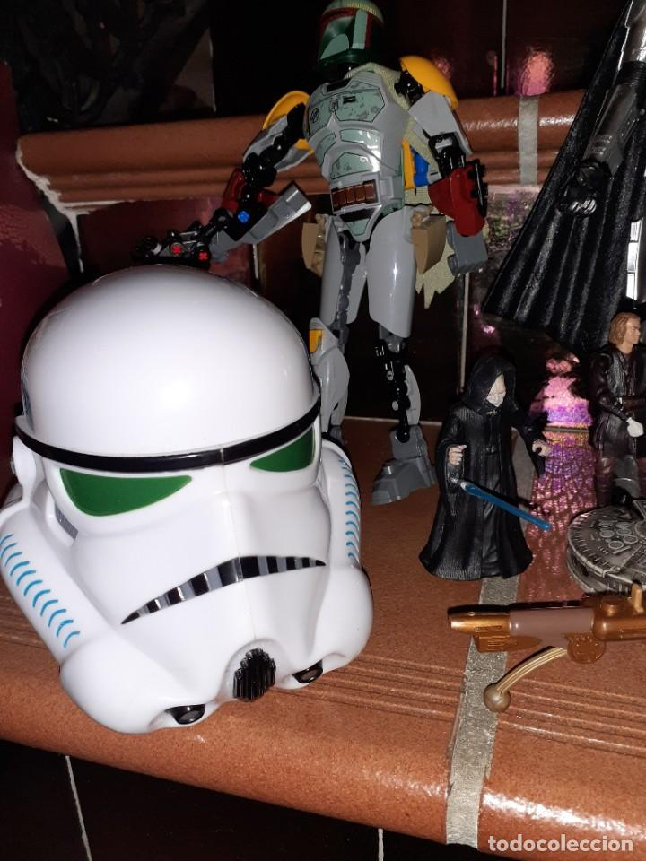 Figuras y Muñecos Star Wars: Lote merchandishing Star Wars.Figuras y naves. - Foto 2 - 189476283