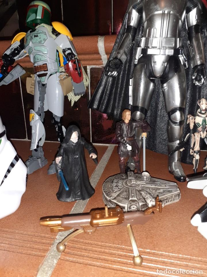 Figuras y Muñecos Star Wars: Lote merchandishing Star Wars.Figuras y naves. - Foto 3 - 189476283