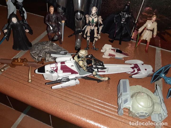 Figuras y Muñecos Star Wars: Lote merchandishing Star Wars.Figuras y naves. - Foto 5 - 189476283