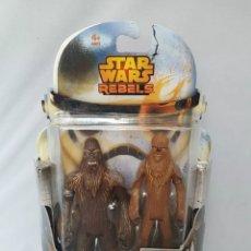 Figuras y Muñecos Star Wars: STAR WARS - REBELS - WULLFFWARRO & WOOKIE WARRIOR - HASBRO. Lote 204622971