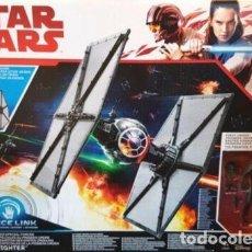 Figuras e Bonecos Star Wars: TIE FIGHTER NAVE CON PILOTO STAR WARS HASBRO 3,75 FIRST ORDER EN CAJA SELLADO. Lote 190003743