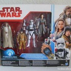 Figuras e Bonecos Star Wars: STAR WARS: LAST JEDI 4-PACK 3,75 FIGURAS KOHL LUKE,ROSE,REY STORMTROOPER EN CAJA. Lote 190008010