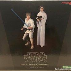 Figuras y Muñecos Star Wars: STAR WARS KOTOBUKIYA LUKE SKYWALKER Y LEIA. . Lote 190555872