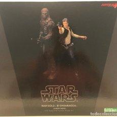 Figuras y Muñecos Star Wars: STAR WARS KOTOBUKIYA HAN SOLO Y CHEWBACCA. . Lote 190555971