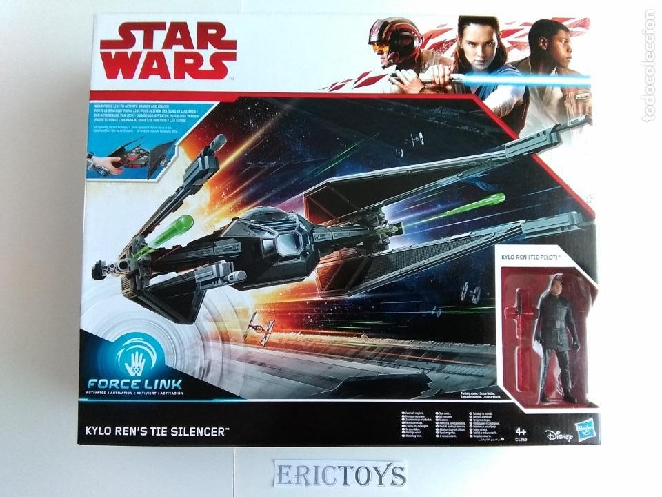 Figuras y Muñecos Star Wars: STAR WARS FIGURA KILO REN + NAVE TIE SILENCER- HASBRO AÑO 2016, LEER DETALLE!!! - ERICTOYS - Foto 2 - 190606271