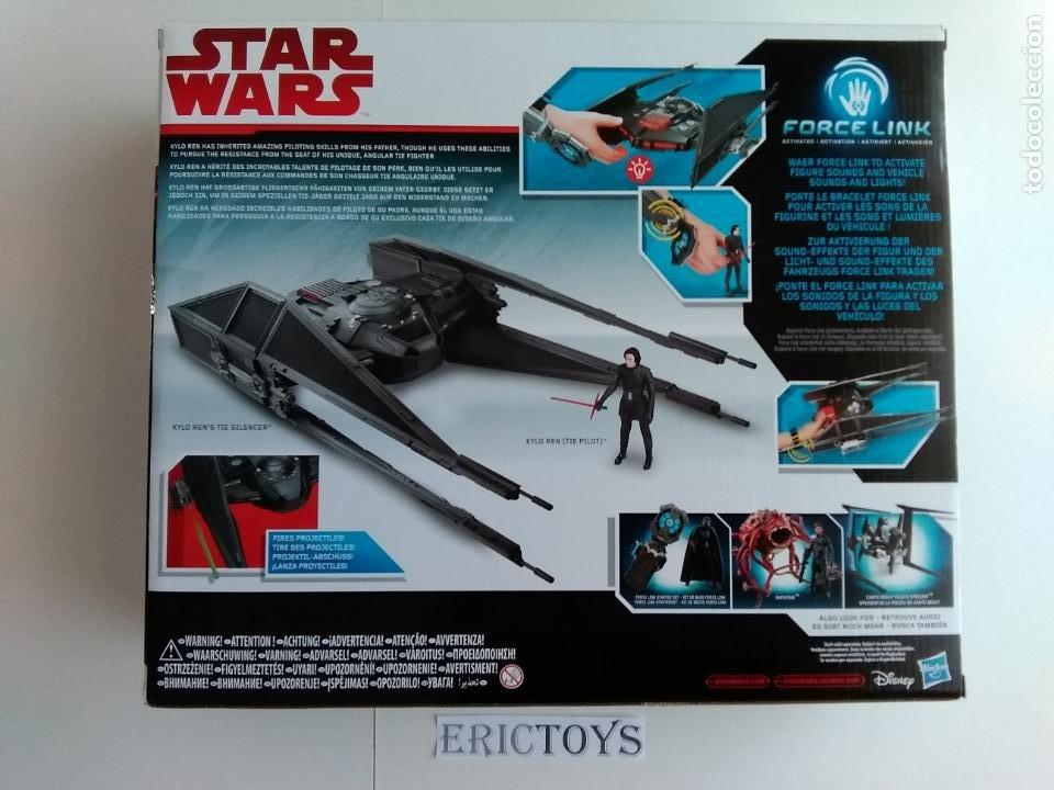 Figuras y Muñecos Star Wars: STAR WARS FIGURA KILO REN + NAVE TIE SILENCER- HASBRO AÑO 2016, LEER DETALLE!!! - ERICTOYS - Foto 3 - 190606271