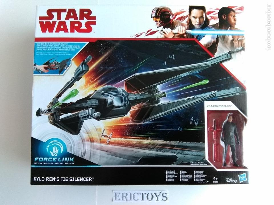 STAR WARS FIGURA KILO REN + NAVE TIE SILENCER- HASBRO AÑO 2016, LEER DETALLE!!! - ERICTOYS (Juguetes - Figuras de Acción - Star Wars)