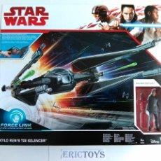 Figuras y Muñecos Star Wars: STAR WARS FIGURA KILO REN + NAVE TIE SILENCER- HASBRO AÑO 2016, LEER DETALLE!!! - ERICTOYS. Lote 190606271
