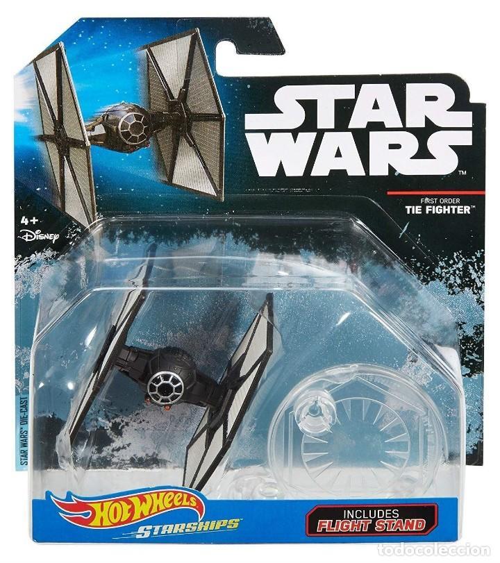 Figuras y Muñecos Star Wars: LOTE MAQUETA DEL ESPACIO - NAVE NUEVA STAR WARS DE HOT WHEELS - TIE FIGHTER FIRST ORDER - Foto 2 - 190924106