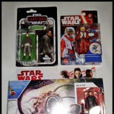 Figuras y Muñecos Star Wars: LOTE STAR WARS, # REY - PILOT ASTY- RATHTAR CON BALA-TIK # NUEVOS EN SU CAJA ORIGINAL DE HASBRO.. Lote 191304933