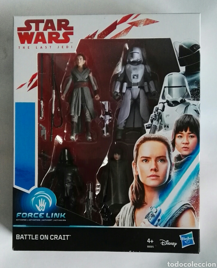 STAR WARS THE LAST JEDI BATTLE ON CRAIT PACK 4 FIGURAS (Juguetes - Figuras de Acción - Star Wars)