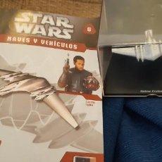 Figuras y Muñecos Star Wars: STAR WARS NAVES Y VEHICULOS CRUCERO REAL NABOO Y FASCÍCULO 6 PLANETA AGOSTINI FIGURA PLOMO. Lote 192034698