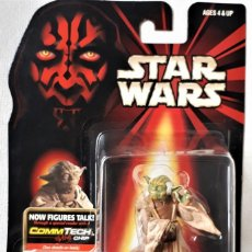 Figure e Bambolotti Star Wars: 0158 STAR WARS. EPISODIO I.FIGURA YODA. COMMTECH CHIP.BLISTER SIN ABRIR. HASBRO.. Lote 192641172