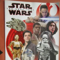 Figuras y Muñecos Star Wars: ÁLBUM STAR WARS - THE LAST JEDI - 2018 - SIN CROMOS.. Lote 193019230
