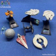 Figuras y Muñecos Star Wars: STAR WARS - LOTE 7 NAVES - ENTRE 7 Y 10 CMS CADA UNA . Lote 193695937