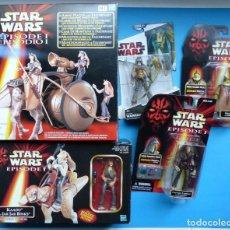 Figuras y Muñecos Star Wars: STAR WARS, EPISODIO I - CARRO DE MUNICION Y FALUMPASET 2 CAJAS Y 3 BLISTER NUEVOS SIN ABRIR, HASBRO. Lote 194332989