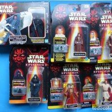 Figuras y Muñecos Star Wars: STAR WARS, EPISODIO I - SITH SPEEDER, DARTH MAUL - CAJA NUEVA SIN ABRIR Y 8 BLISTER, HASBRO. Lote 194367405