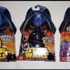 Figuras y Muñecos Star Wars: STAR WARS # CHEWBACCA - DARTH VADER - YODA # REVENGE OF THE SITH - NUEVOS EN SU BLISTER DE HASBRO... Lote 194624142
