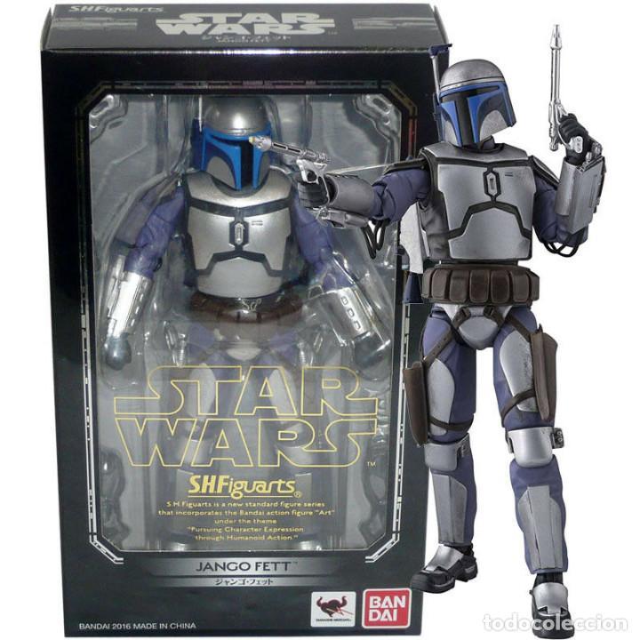 Figuras y Muñecos Star Wars: BANDAI - STAR WARS S.H.Figuarts - JANGO FETT - (original) Nuevo en caja cerrada. - Foto 3 - 194668062