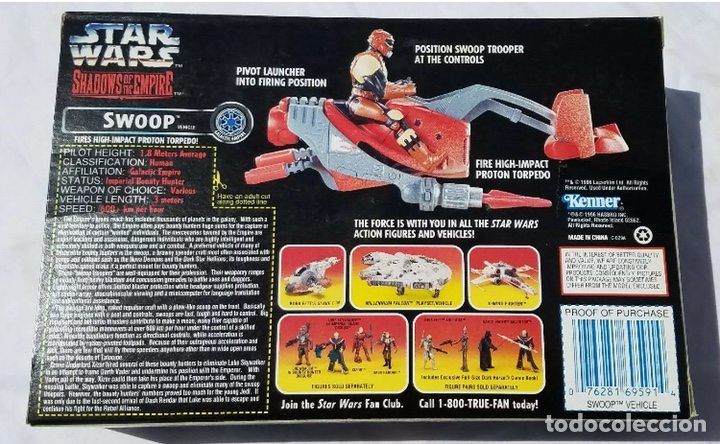 Figuras y Muñecos Star Wars: Figura Swoop y Nave - Star Wars - Power of the Force - Shadows of the Empire - Kenner vintage - Foto 2 - 194894331