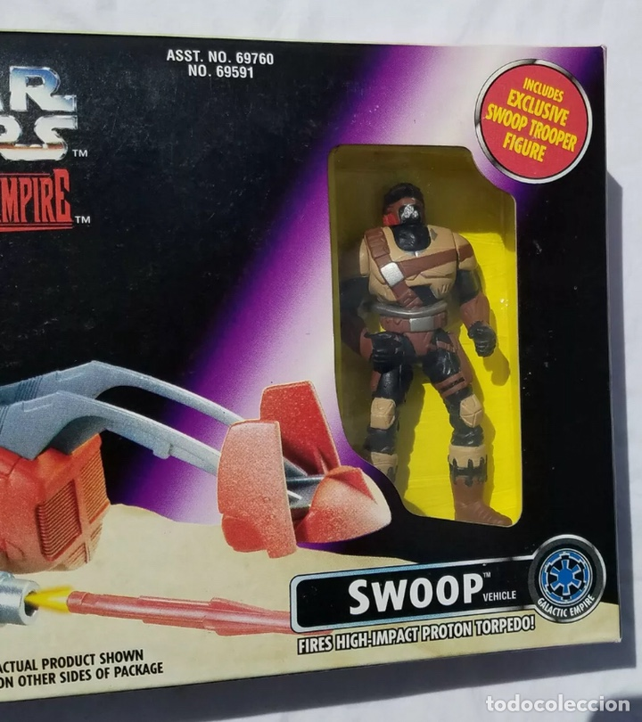 Figuras y Muñecos Star Wars: Figura Swoop y Nave - Star Wars - Power of the Force - Shadows of the Empire - Kenner vintage - Foto 3 - 194894331