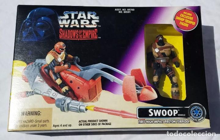 FIGURA SWOOP Y NAVE - STAR WARS - POWER OF THE FORCE - SHADOWS OF THE EMPIRE - KENNER VINTAGE (Juguetes - Figuras de Acción - Star Wars)