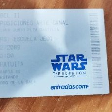 Figuras y Muñecos Star Wars: ENTRADA STAR WARS THE EXHIBITION MADRID 2009. Lote 194896921