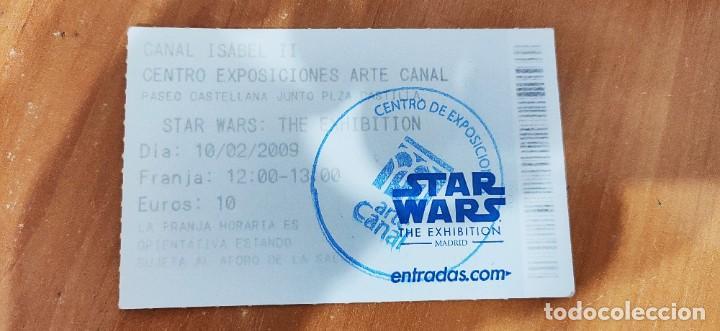 Figuras y Muñecos Star Wars: ENTRADA STAR WARS THE EXHIBITION MADRID 2009 - Foto 2 - 194897081
